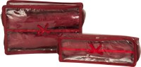 Annapurna Sales Maroon Transparent Churi Bangles Cases - Set Of 2 Pouch Maroon