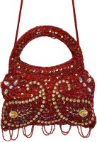 Galz4ever Red Drop Hand Bag Potli Red