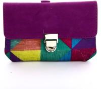 LadyBugBag Designer Purple Velvet Mobile Pouch Purple