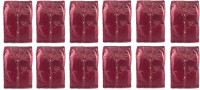 Annapurna Sales Maroon Pairasute Large Shirt Or T-Shirt Cover - Set Of 12 Pcs. Pouch Maroon