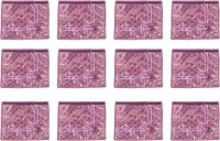 Annapurna Sales Purple Satin Single Saree Cover - Set Of 12 Pcs Pouch Purple