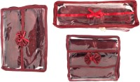 Annapurna Sales Maroon Transparent Churi Bangles Cases - Set Of 3 Pouch Maroon