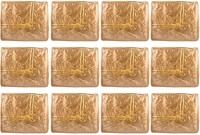 Annapurna Sales Golden Small Satin Saree Cover - Set Of 12 Pcs. Pouch Golden - PPSEFRYFP5MDYFX7