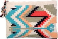 Diwaah Diwaah!! Multi Rug Hand Zip Top Pouch. Pouch Multicolor
