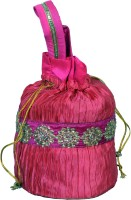 Bag Berry Round Potli - Pink Crush