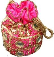 Ruhi's Creations Ethnic Pink Potli Pink