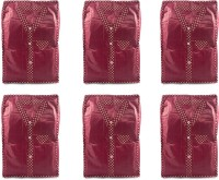 Annapurna Sales Maroon Pairasute Large Shirt Or T-Shirt Cover - Set Of 6 Pcs. Pouch Maroon