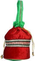 Bag Berry Velvet Potli - Red