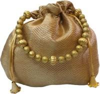 Bhamini Small Ethnic Brocade Potli Gold - 02