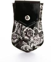 LadyBugBag Designer Black PU Mobile Pouch Black