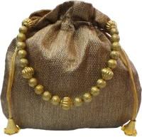 Bhamini Small Ethnic Brocade Potli Gold - 03