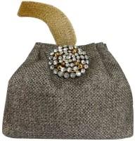 Laviva Ethnic Grey Colored Jute Potli Bag By Laviva Potli Grey