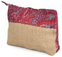 Use Me Paisely Print Pouch - Jute & Red