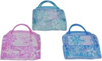 Blossoms 3 PCs Transparent Carry Bag For Kids, Multi Purpose Potli Multicolor