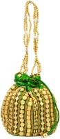 Mpkart Golden Potli Pouch (Green)