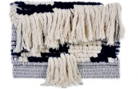 Diwaah Diwaah!! Pom Pom White Fringes Stylish Pouch Pouch White