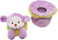 Wonderkids Teddy Baby Powder Puff (Purple)