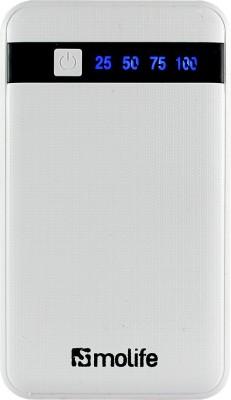 Molife PB-07 Slim Polymer Portable Charger 8000 mAh (White) low price