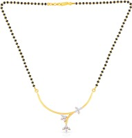 Malabar Gold And Diamonds MSTN271067 18kt Diamond, Beads Yellow Gold Mangalsutra Tanmaniya