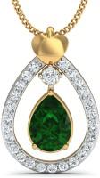 Damor The Awe-Inspiring 18kt Diamond, Emerald Yellow Gold Pendant