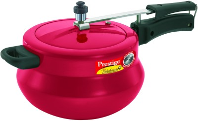 Nakshatra-Plus-Red-Handi-Aluminium-5-L-Pressure-Cooker-(Induction-Bottom,-Inner-Lid)