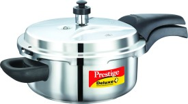 Deluxe Plus Stainless Steel 3 L Pressure Cooker (Induction Bottom, Outer Lid)