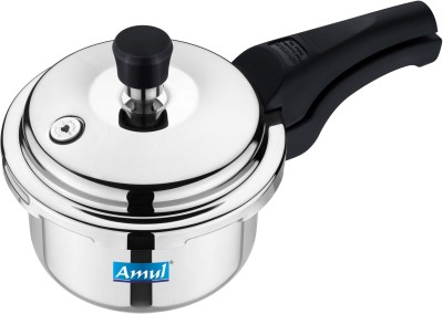 Amul Reliable 3 L Pressure Cooker (Induction Bottom, Stainless Steel)