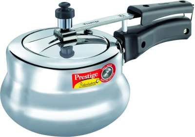 Nakshatra Plus Polished Handi Aluminium 2 L Pressure Cooker (Induction Bottom, Inner Lid)