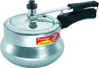 Nakshatra Plus Polished Handi Aluminium 3 L Pressure Cooker (Induction Bottom, Inner Lid)