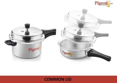 Pigeon Calida 5 L, 3.5 L Pressure Cooker & Pressure Pan (Induction Bottom, Aluminium)