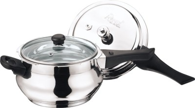 Apex Stainless Steel Popular Handi 5.5 L Pressure Cooker (Induction Bottom, Stainless Steel)