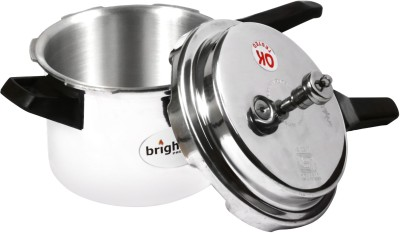 Bright Flame Induction Friendly 3 L Pressure Cooker (Induction Bottom, Aluminium)