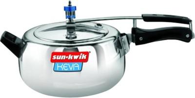 Sun-Kwik Keva Inner Lid 3.5 L Pressure Cooker (Aluminium)