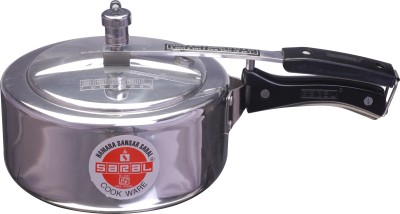 Saral FS00000277 Aluminium 3 L Pressure Cooker (Induction Bottom,Inner Lid)