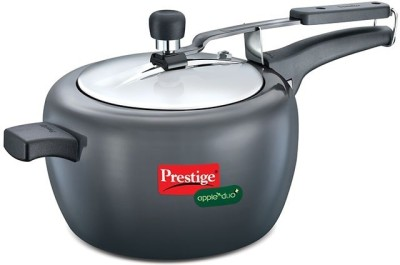 Prestige Apple Duo Aluminium 5 L Pressure Cooker (Induction Bottom, Inner Lid)