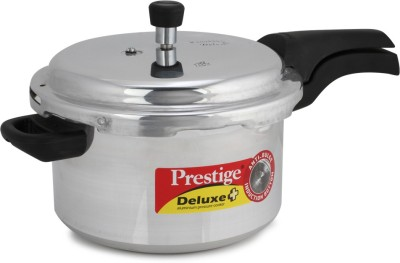 Deluxe Plus Aluminium 5 L Pressure Cooker (Induction Bottom, Outer Lid)