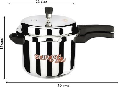SuryaAccent Super Saver combo pack 5 L, 3 L, 2 L Pressure Cooker (Aluminium)