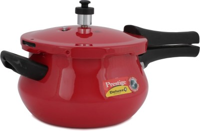 Prestige Deluxe Plus Mini Handi Red 3.3 L Pressure Cooker (Induction Bottom, Aluminium)