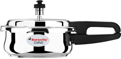 Butterfly 2 L Pressure Cooker (Induction Bottom, Stainless Steel)