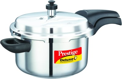 Deluxe Alpha Stainless Steel 4 L Pressure Cooker (Induction Bottom, Outer Lid)