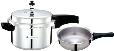 Vijayalakshmi Platina 2 L, 3 L Pressure Cooker & Pressure Pan (Aluminium)