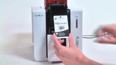 Evolis Primacy_id_card Single Function Printer (White Red)