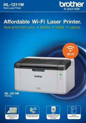 Brother Hl-1211 Single Function Printer (White)
