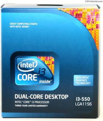 Intel 3.2 GHz LGA 1156 i3 550 Processor Blue available at Flipkart for Rs.7550