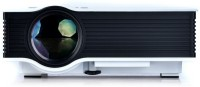 Crocon Portable Home Cinema Theater HD Multimedia LED Portable Projector (White)