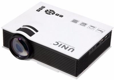 Crocon Portable Home Cinema Theater HD Multimedia LED Portable Projector (White)