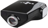 Teledealz Portable Mini HD LED Multimedia Projector (Black)