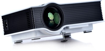 Influx ™ Discover 800 LM UC40 HD 3D Digital Mini Pico Portable Projector AV A/V USB SD HDMI 1080P Portable Projector (White)