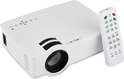 Smiledrive MULTIMEDIA PROJECTOR WITH 800 LUMENS Portable Projector (White)