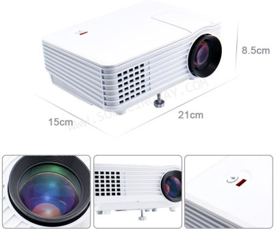 IBS 800 Lumens RD-805 Mini LED TV Smart Lcd Video Home Theater 1080P Movie Cinema Portable Projector (White, Black)